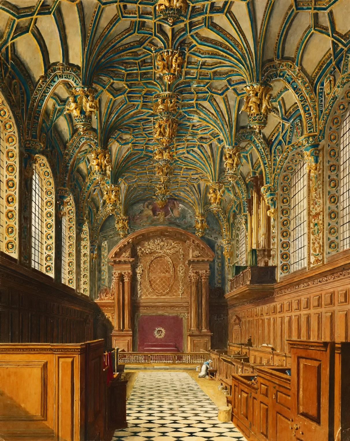 The Chapel, Hampton Court Palace, 1819