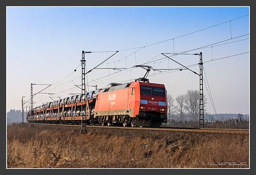 152 085 mit Autotransportzug, 29.12.2008