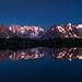 """""""Calme vespéral sur le Massif du Mont Blanc"""" - Lac supérieur de Chéserys, Haute-Savoie. by Raphaël Grinevald • Photographe"""