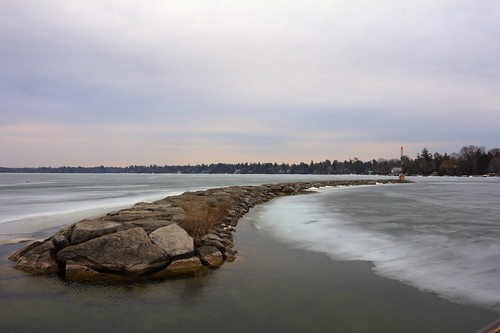 ice landscape rocks barrie lakesimcoe