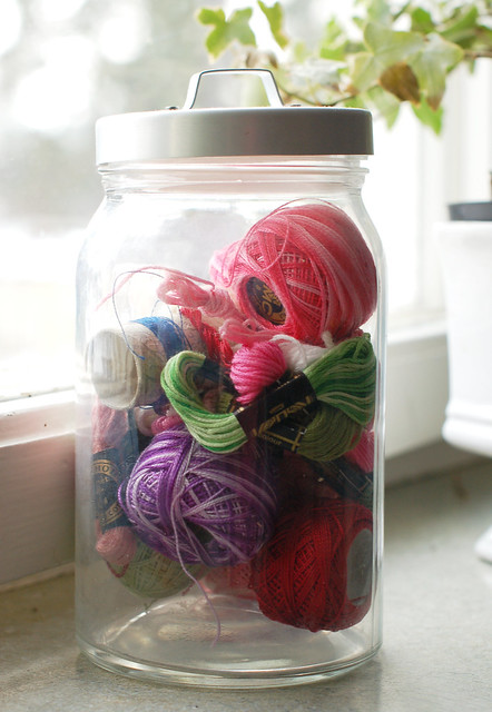 Embroidery floss display
