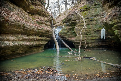 ... at the end of Ottawa canyon in Starved Rock State Park near Ottawa IL