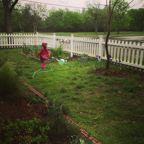 Her school is the garden she says.