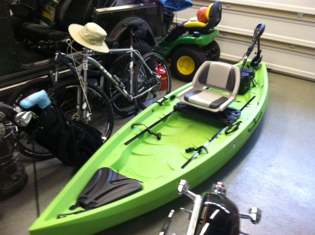 how to put an engine on a kayak