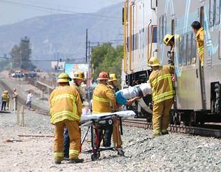 Commuter Train and Dump Truck Collide in Pacoima