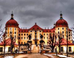 Schloss Moritzburg, Schloss, Südauffahrt  **HDRI**