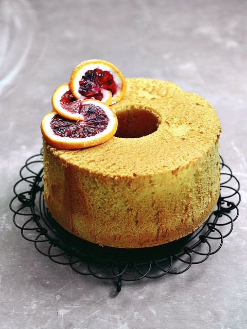 Blood Orange Chiffon Cake
