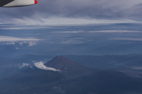 sky cloud mountain japan airplane volcano aerialview mountfuji
