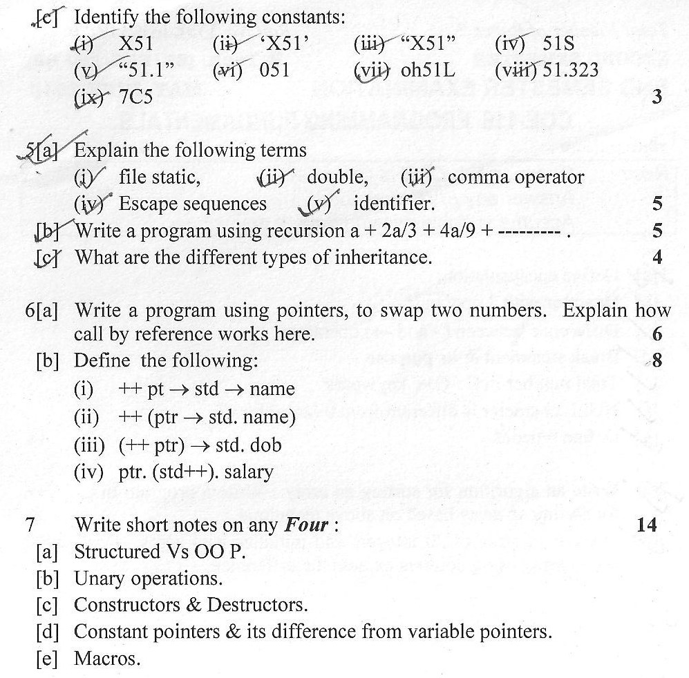 DTU Question Papers 2010 – 2 Semester - End Sem - COE-116