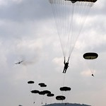 Paratroopers Landing at Drop Zone