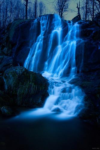 Dark Hollow Falls by Moonlight