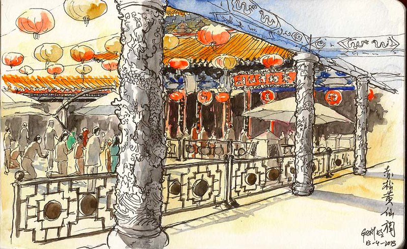 39th Sketchcrawl: Wong Tai Sin Temple, Hong Kong