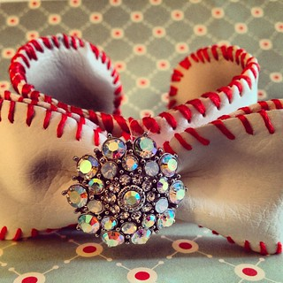 Baseball Bow Cuffs