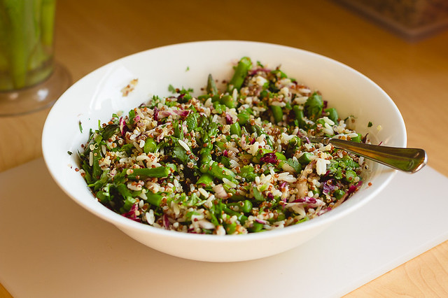 Asparagus Salad with Rice and Quinoa