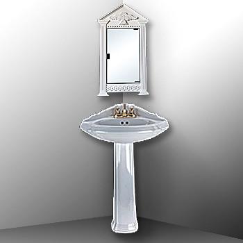 Corner Sink Mirror : Corner white mirror cabinet on White Pedestal corner sink Flickr ...