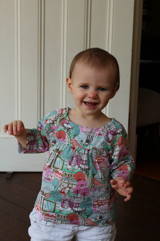 Baby Girl in Liberty blouse