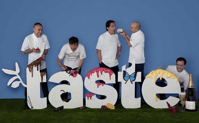 TasteofLondoncelebrates10years. Michel Roux Jr, Alfred Prasad, Pascal Aussignac, Francesco Mazzei and Ben Tish