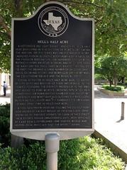Photo of Sam Bass black plaque