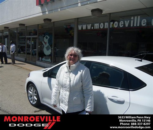 Monroeville Dodge would like to say Congratulations to Adelaide Saia on the 2013 Dodge Dart by Monroeville Dodge