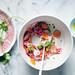 Shaved beet, carrot and radish salad
