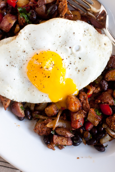 Smoky Chorizo Hash and Eggs