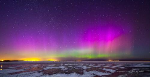 black green yellow night stars purple poland polska aurora northernlights auroraborealis rewa gdynia auroras zorza aurorae