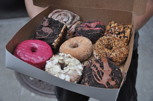 Cinnamon Snail box of assorted doughnuts