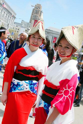 Women in Red Kimono