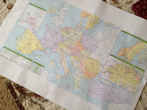 A4用紙 8枚でユーロレール地図を作ってみた by haruhiko_iyota