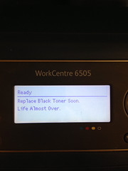 "Our printer is warning: ""Life Almost Over"""