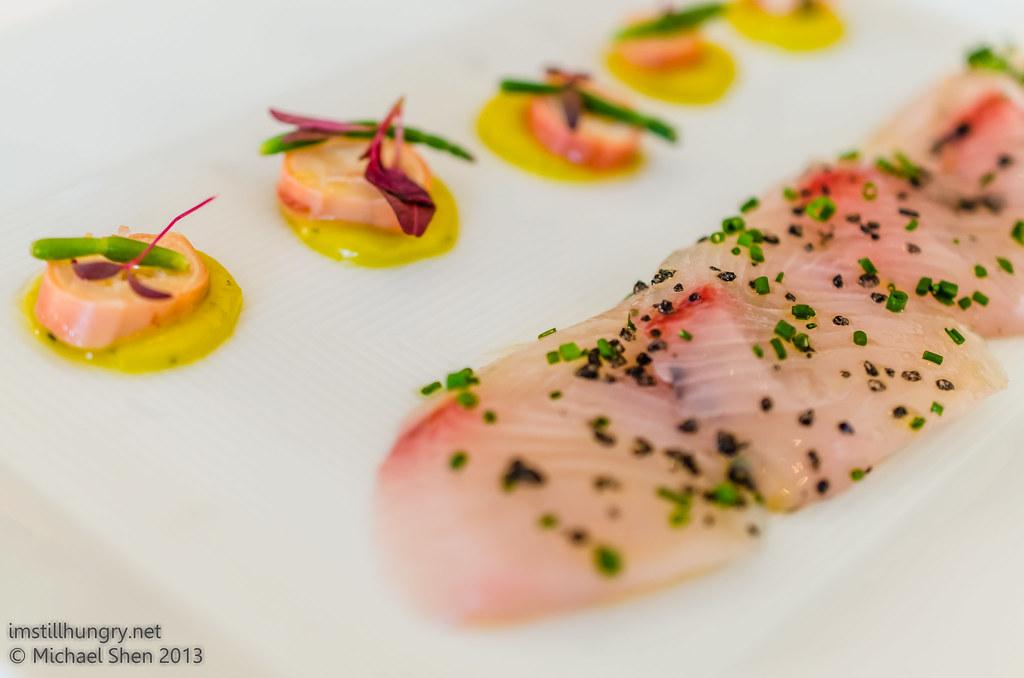 Aria kampachi sashimi