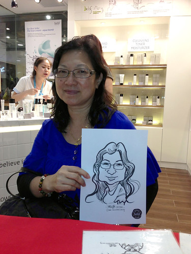 caricature live sketching for Belif New Store Opening - Day 1