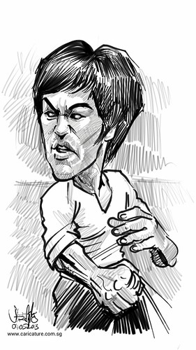 Bruce Lee sketch study on Samsung Galaxy Note 2