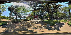Panorama of Bentenjima Itsukushima Shinto shrine of washing ponds DSC_2993