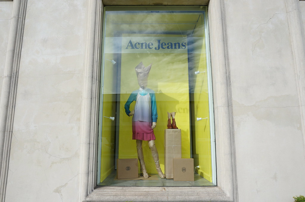 ACNE windows for Elle Boutique by Claire Mueller