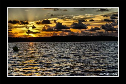 Crépuscule sur le lac de Biscarosse