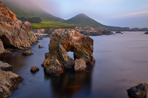 garrapatastatepark soberanespoint seaarch rockycoastline montereypeninsula monterey california sunset color longexposure ocean seascape landscape davidshieldphotography mist fog elitegalleryaoi