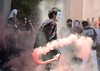 Students Use Smoke Bombs While Performing the Flash Mob by Haleem Elsha3rani حليم الشعراني