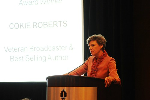 Sacred Cat Award Winner Cokie Roberts at the Gridiron Awards Dinner on Friday, May 17, 2013.