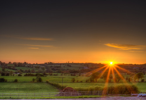 Sunset over Staffordshire