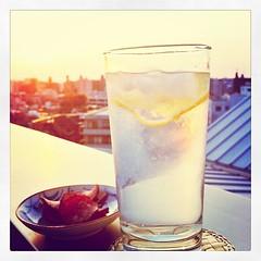 6:30pm. Aperitif time! #gin&tonic