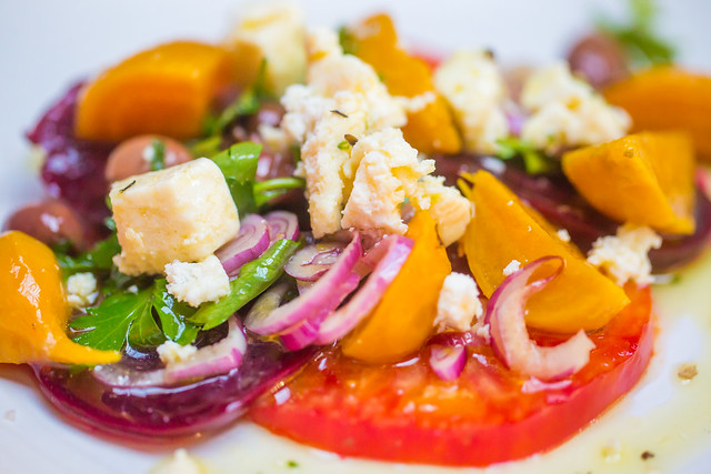 MMMMM... Beets and Heirloom Tomato Salad