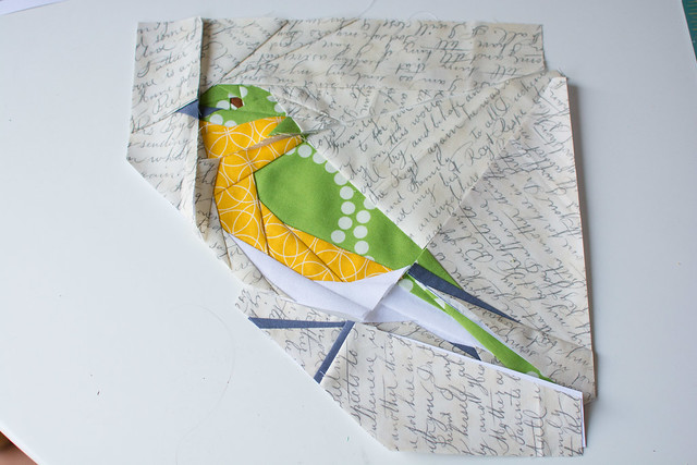 Paper pieced bird