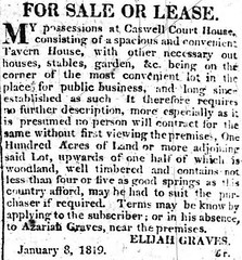 Elijah Graves, Milton Intelligencer, 2 April 1819, p.4