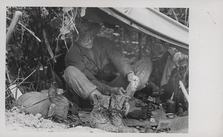 W.R. Standley Dries His Socks and Feet, 9 December 1967