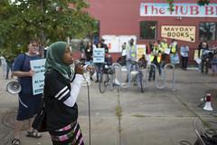 Speaker at a rally against Islamophobia