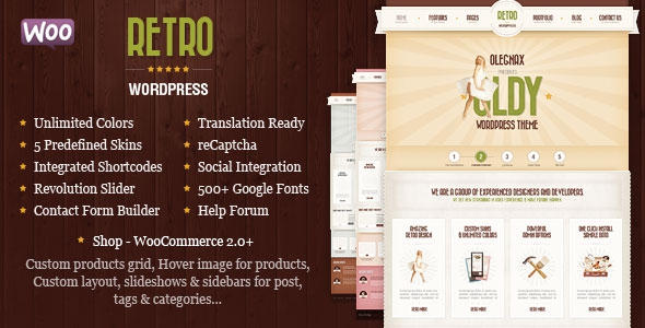 Retro v4.0.1 - Premium Vintage WordPress Theme