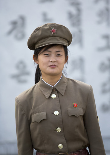 Female Guard At Mansudae Art Studio, Pyongyang, North Korea
