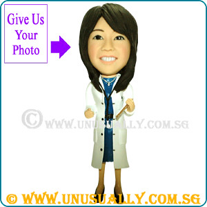 Custom 3D Female Doctor Figurine - @www.unusually.com.sg