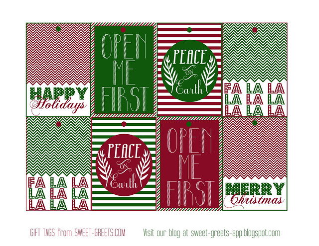 Free printable Christmas gift tags | Flickr - Photo Sharing!